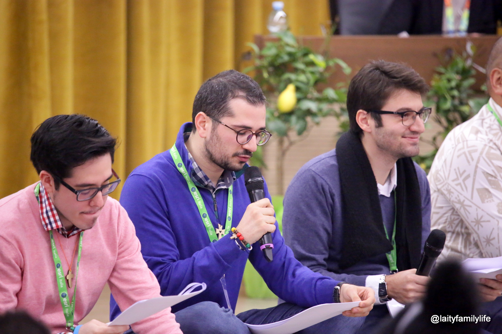 Filipe Domingues with other young people during the Pre-Synod Meeting (© Dicastery for Laity, Family and Life)