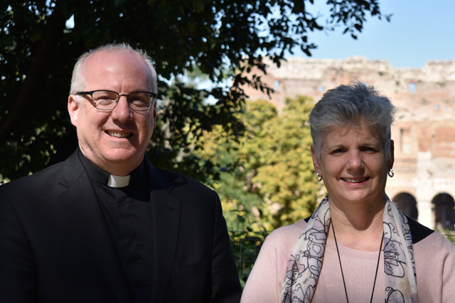 Monsignor Joseph Reilly, Rector/Dean of ICSST, and Dr. Donna Orsuto, Director of The Lay Centre