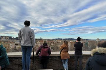 Taking in the view from the Aventine Hill towards St. Peter's